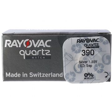 Rayovac 390 SR1130SW 1.5V Silver Oxide Watch Battery